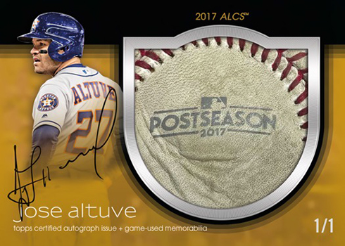 2018 Topps Dynasty Baseball Autograph Special Event Baseball Leather