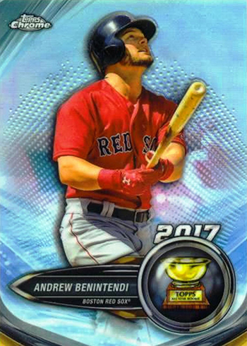 2018 Topps Factory Set Chrome Rookie Cup TSE-3 Andrew Benintendi