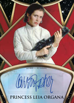 2018 Topps Finest Star Wars Prime Autograph Red