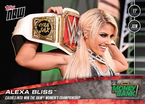2018 Topps Now WWE 41 Alexa Bliss