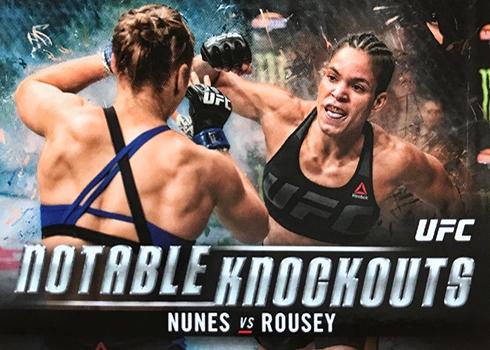 2018 Topps UFC Knockout Amanda Nunes Ronda Rousey