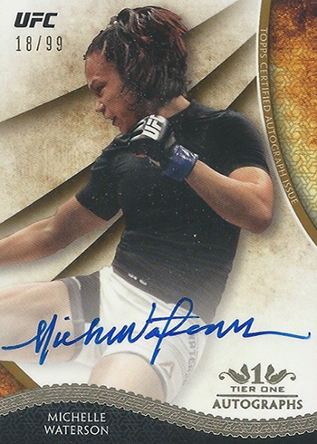 2018 Topps UFC Knockout Tier One Autographs Michelle Waterson