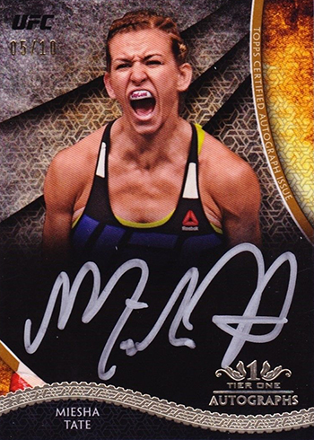 2018 Topps UFC Knockout Tier One Autographs Miesha Tate Silver Ink