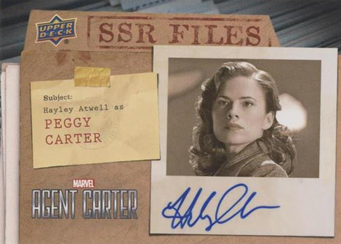 2018 Upper Deck Agent Carter SSR Files Autographs Hayley Atwell