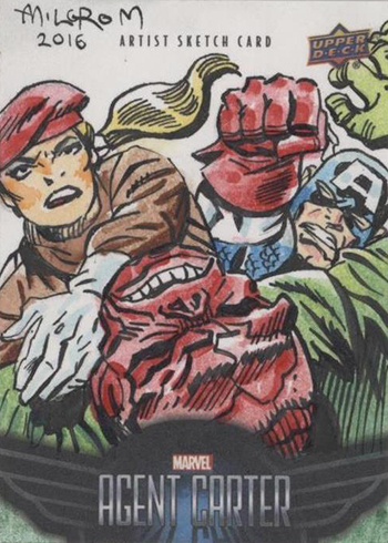 2018 Upper Deck Agent Carter Sketch Card Al Milgrom