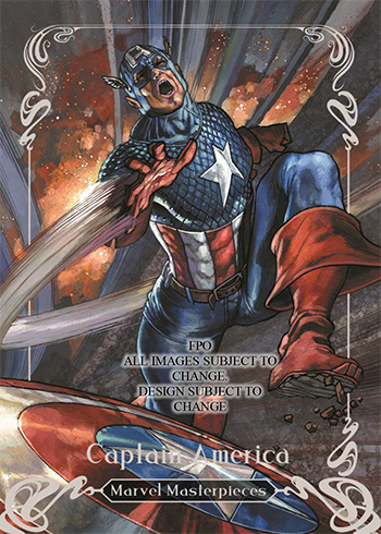 2018 Upper Deck Marvel Masterpieces Base Captain America