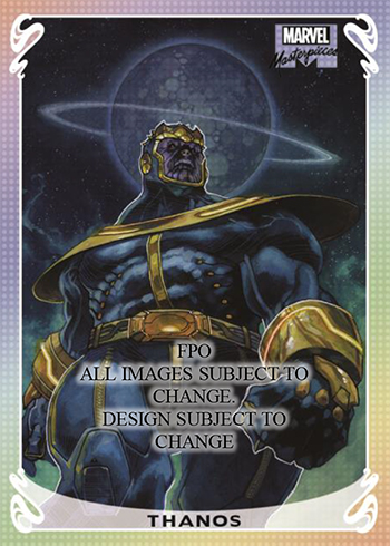2018 Upper Deck Marvel Masterpieces Foil Thanos