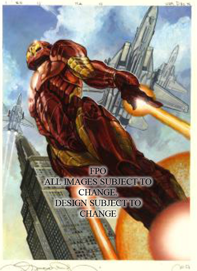 2018 Upper Deck Marvel Masterpieces Original Art Iron Man