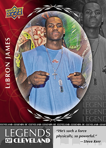 2018 Upper Deck National Convention Legends of Cleveland LeBron James A
