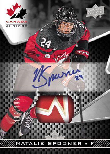 2018 Upper Deck Team Canada Juniors Hockey Auto Patch Natalie Spooner