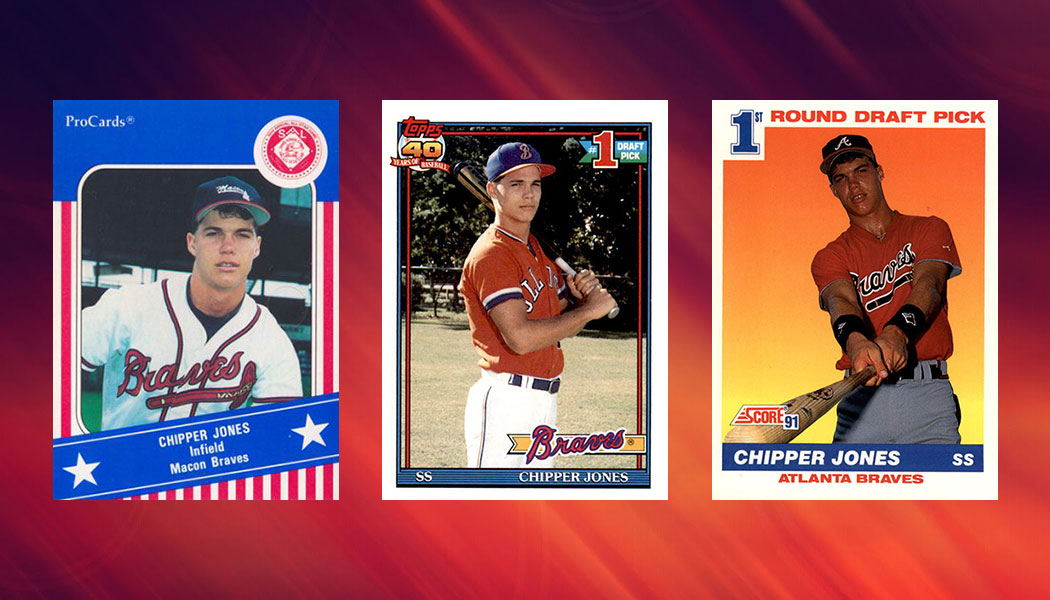 Comprehensive Chipper Jones Rookie Card And Minor League Card