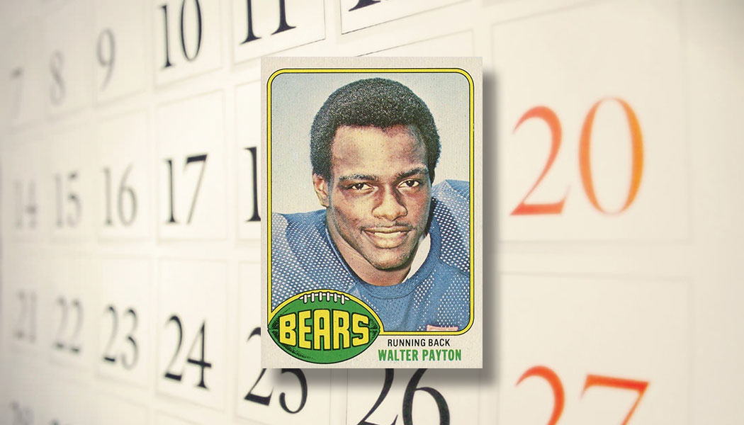 The Daily 1976 Topps Walter Payton Rookie Card Beckett News