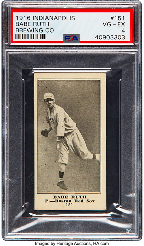 1916 Indianapolis Brewing Babe Ruth PSA 4 500