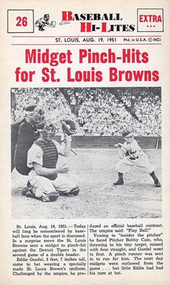 1960 Nu-Cards Baseball Hi-Lites Eddie Gaedel