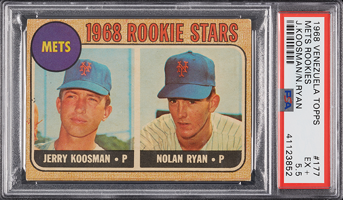 1968 Topps Venezuelan Nolan Ryan Rookie Card PSA 5-5 Collect Auctions-Aug-2018 700