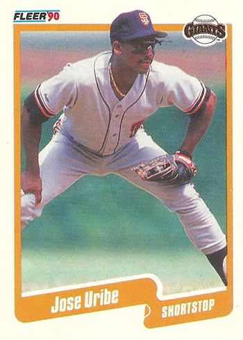 1990 Fleer Jose Uribe