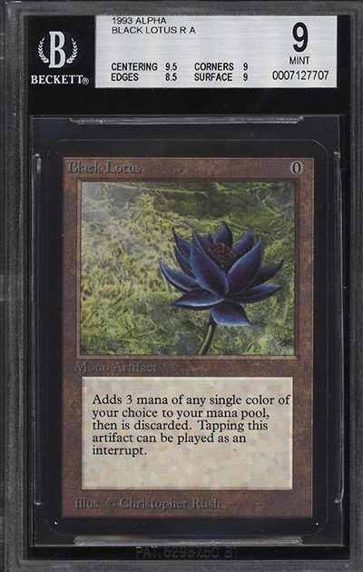 1993 Magic The Gathering Alpha Black Lotus Fetches Over 38000