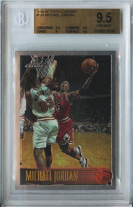 1996-97 Topps Chrome Michael Jordan BGS 9-5