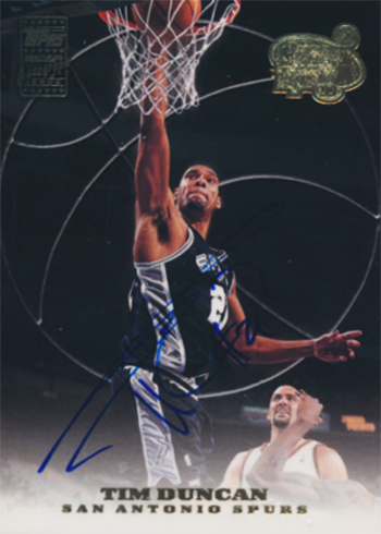1999-00 Topps Tip-Off Tim Duncan Autograph