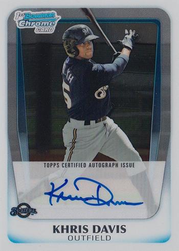 2011 Bowman Chrome Prospect Autographs Khris Davis