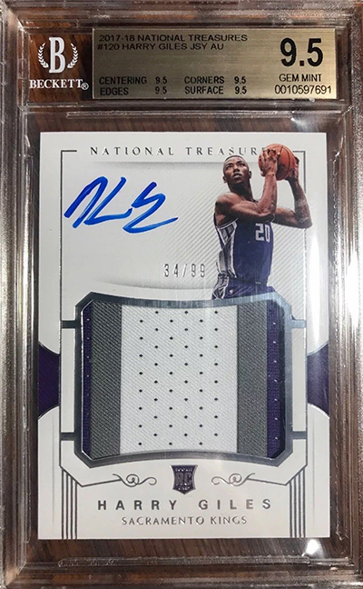 2017-18 National Treasures Harry Giles RC BGS 9-5