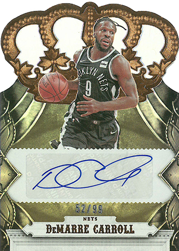 2017-18 Panini Crown Royale Basketball Crown Autographs DeMarre Carroll