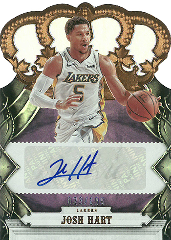 2017-18 Panini Crown Royale Basketball Crown Autographs Rookies Josh Hart