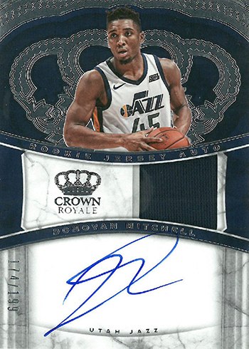2017-18 Panini Crown Royale Basketball Rookie Jersey Autographs Donovan Mitchell