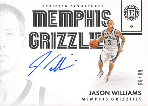 2017-18 Panini Encased Certified Signatures Jason Williams