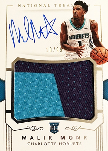2017-18 Panini National Treasures Malik Monk RC
