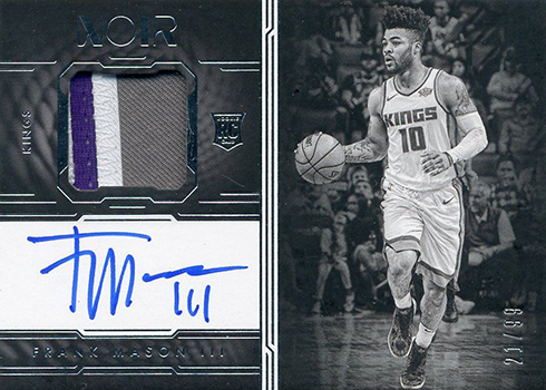 2017-18 Panini Noir Basketball Autographed Prime Rookies Black and White Frank Mason III