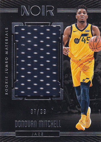 2017-18 Panini Noir Basketball Rookie Jumbo Memorabilia Donovan Mitchell