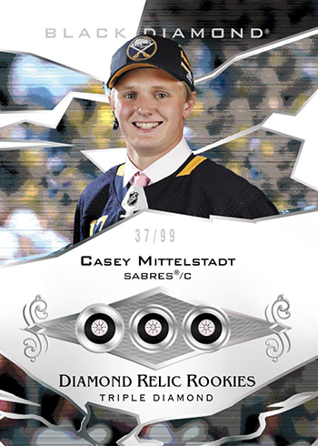 2018-19 Upper Deck Black Diamond Hockey Diamond Rookie Relics