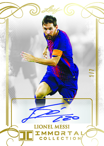 2018 Leaf Immortal Collection Soccer Autographs Lionel Messi
