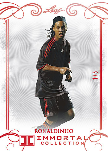 2018 Leaf Immortal Collection Soccer Base Red