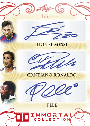 2018 Leaf Immortal Collection Soccer Triple Autograph