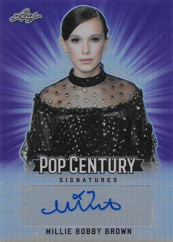 2018 Leaf Metal Pop Century Base Autographs Purple Millie Bobby Brown