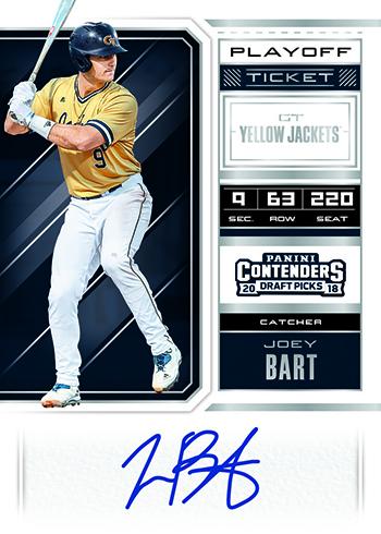 3adddb333f4 2018 Panini Contenders Draft Picks Baseball RPS Draft Ticket Playoff