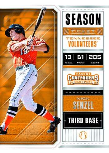 2018 Panini Contenders Draft Picks Baseball Season Ticket