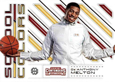 2018 Panini Contenders Draft Picks Basketball School Colos De'Anthony Melton