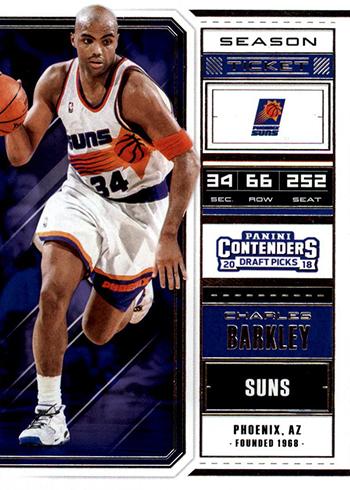 2018 Panini Contenders Draft Picks Basketball Season Ticket Charles Barkley
