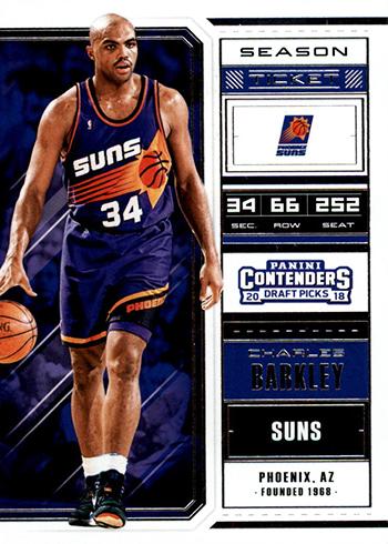 2018 Panini Contenders Draft Picks Basketball Season Ticket Variations Charles Barkley