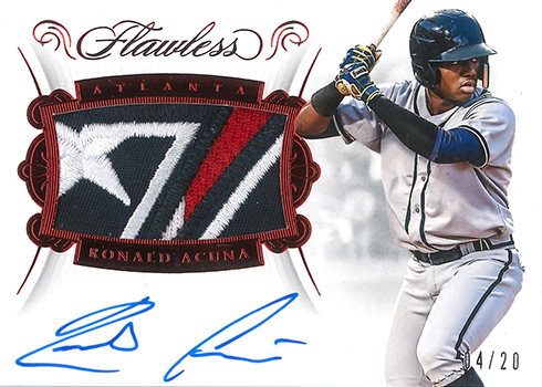 2018 Panini Flawless Baseball Rookie Patch Autographs