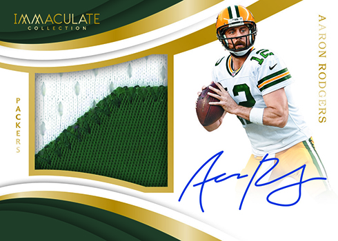 2018 Panini Immaculate Football Premium Patch Autographs Gold