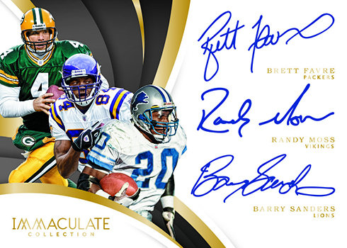 2018 Panini Immaculate Football Triple Autographs