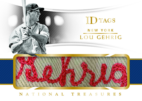 2018 Panini National Treasures Baseball ID Tags
