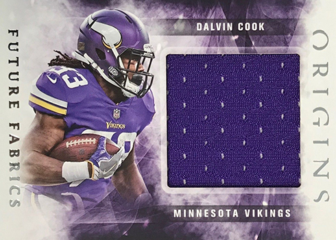 2018 Panini Origins Football Future Fabrics Dalvin Cook