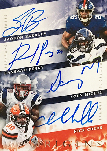 2018 Panini Origins Football Quad Autograph