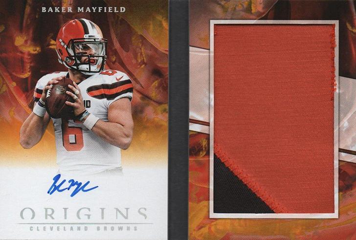 2018 Panini Origins Football Rookie Booklet Baker Mayfield