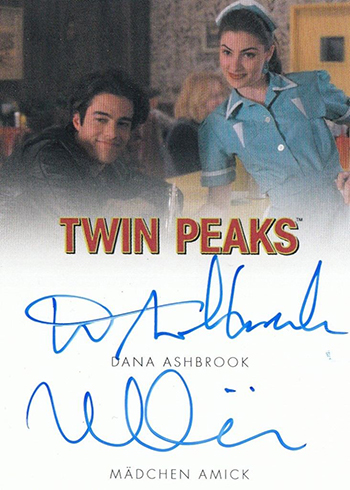 2018 Rittenhouse Twin Peaks Dual Autographs Dana Ashbrook Madchen Amick